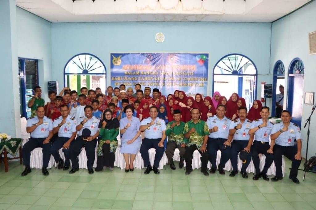 """Danlanud Iswahjudi """"berbagi"""" di LKSA Panti Asuhan Muhammadiyah"""