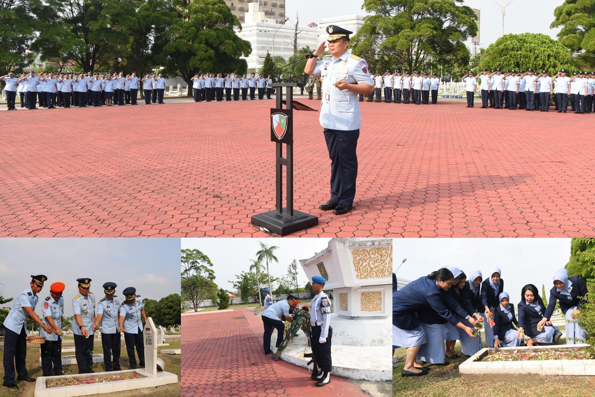 Danlanud Rsn Pimpin Ziarah Rombongan HUT ke-73 TNI AU