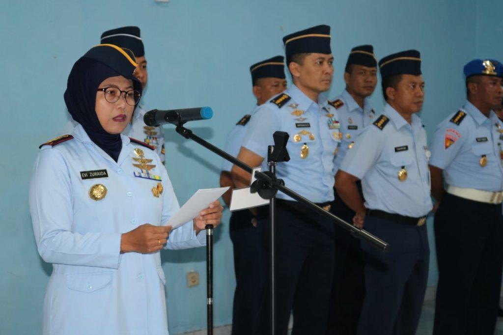 Danwingdikum Kolonel Sus Evi Zuraida S.h. M.h. Saat Mebacakan Sambutan.