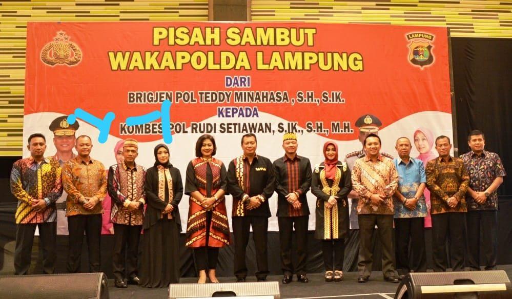 Danlanud BNY Menghadiri Pisah Sambut Wakapolda Lampung