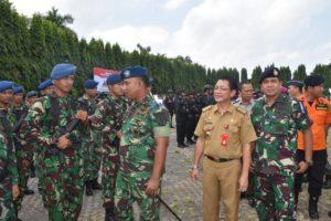 Gelar Pasukan Operasi Ketupat Krakatau 2019 di Provinsi Lampung.