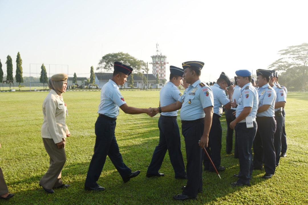 Apel Khusus dan Halal Bihalal di Lanud Pangeran M. Bun Yamin