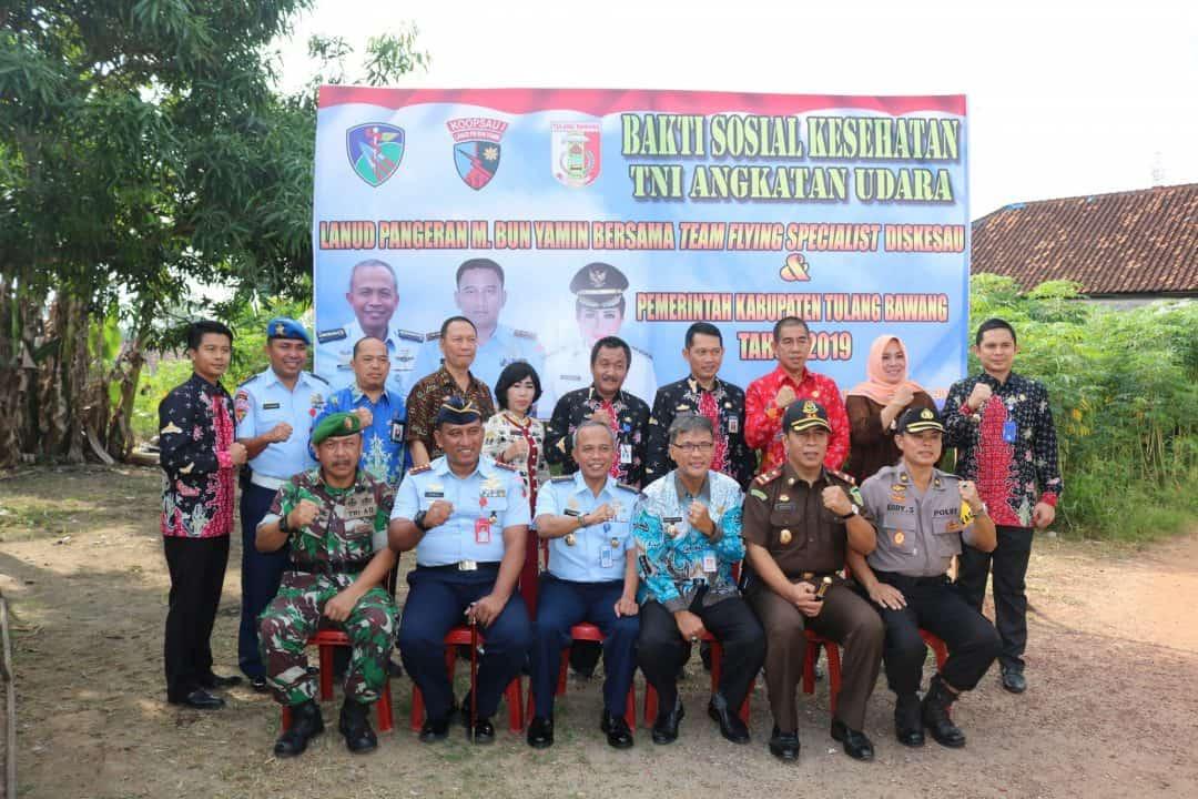 Bakti Sosial Lanud Pangeran M. Bun Yamin di Kabupaten Tulang Bawang