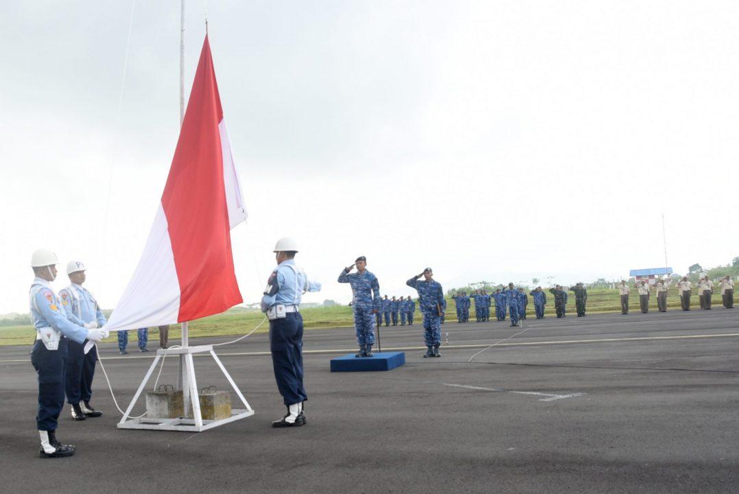Upacara Peringatan HUT ke-68 Koopsau di Lanud Wiriadinata