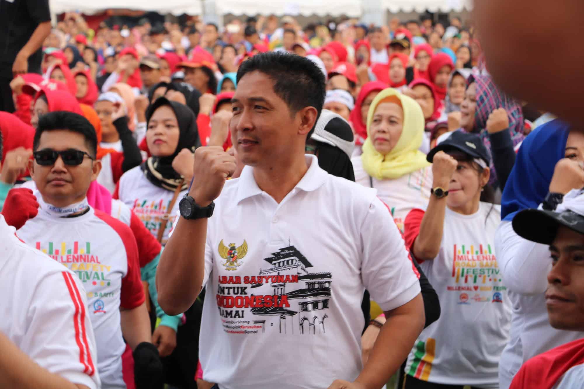 Danlanud Husein S Hadir Dalam Jabar Sauyunan Indonesia Damai