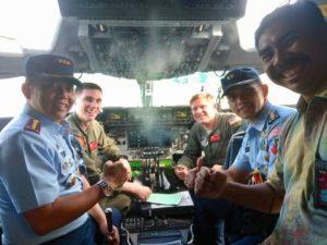 Kedatangan Pesawat C-17 Globe Master Us Air Force Di Lanud Sam Ratulangi