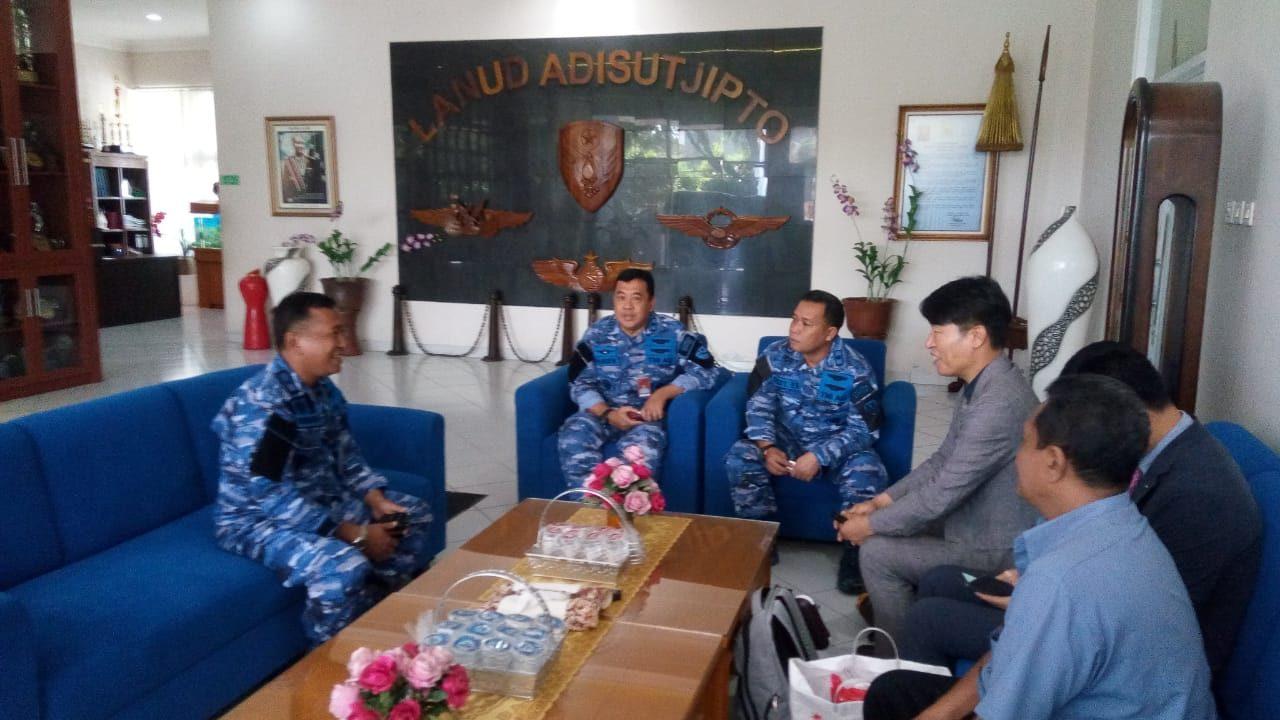 Danlanud Adisutjipto Menerima Kunjungan Delegasi Korean Aerospace Industries