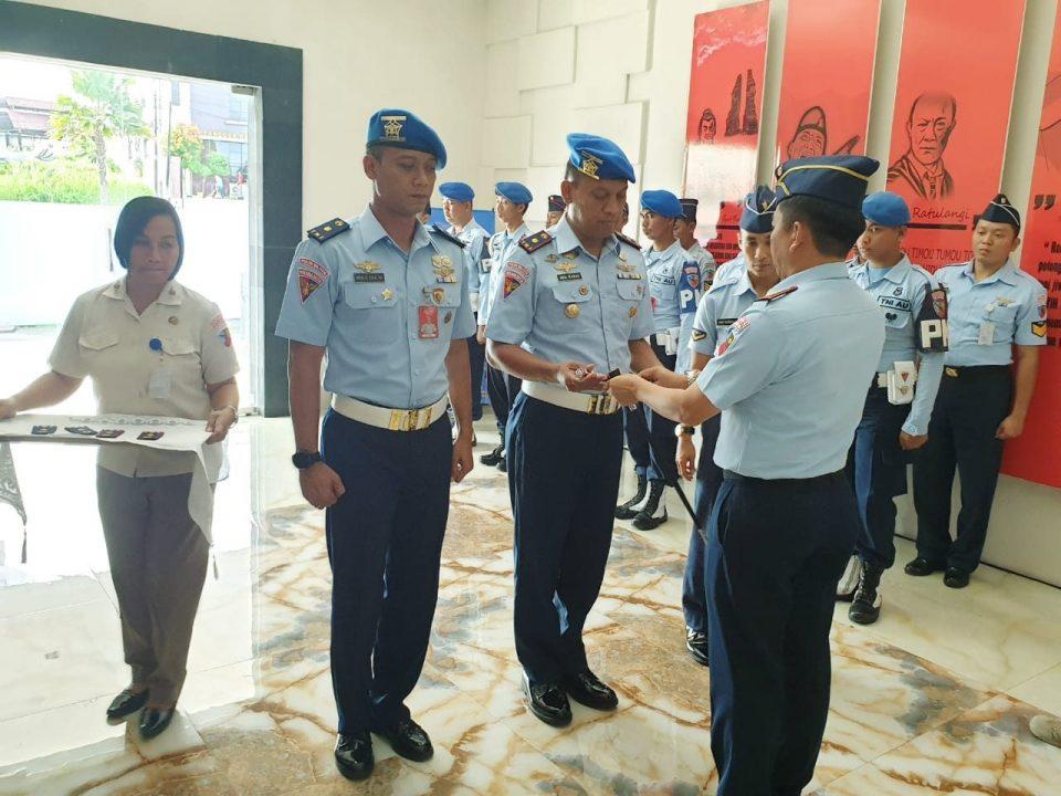 Komandan Lanud Sam Ratulangi Pimpin Sertijab Dansatpom