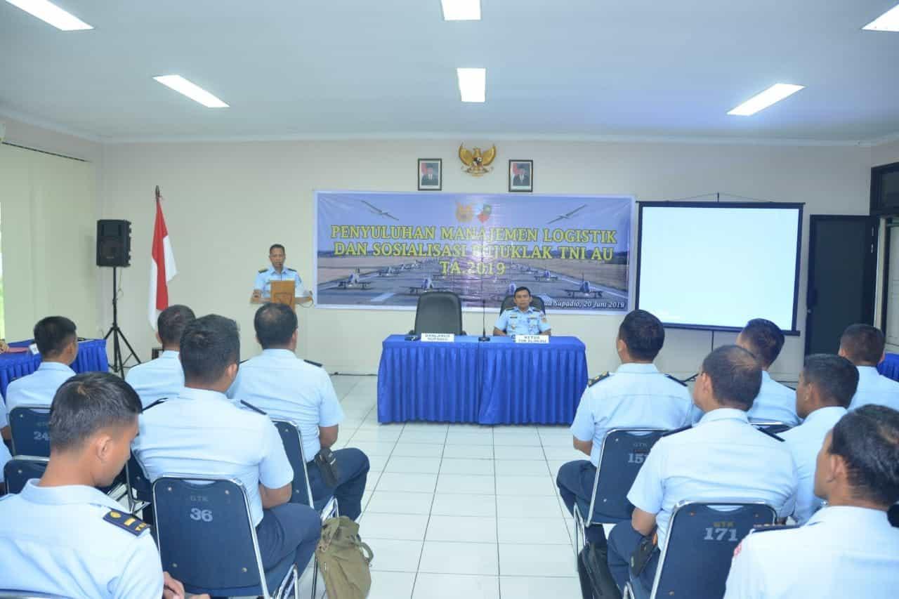 Penyuluhan Manajemen Logistik Dan Sosialisasi Bujuklak Tni Au Di Lanud Supadio