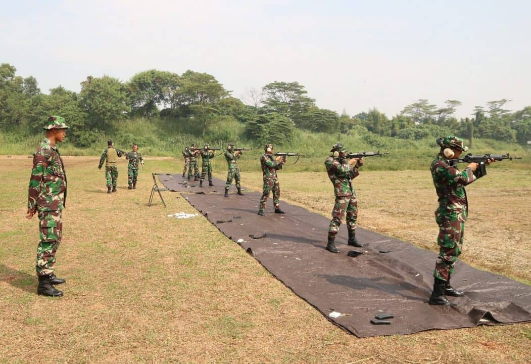 Latihan Menembak Laras Panjang Puspomau Tw Ii 2019
