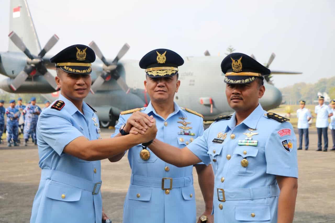 Komandan Lanud Abdulrachman Saleh Pimpin Sertijab Komandan Skadron Udara 32