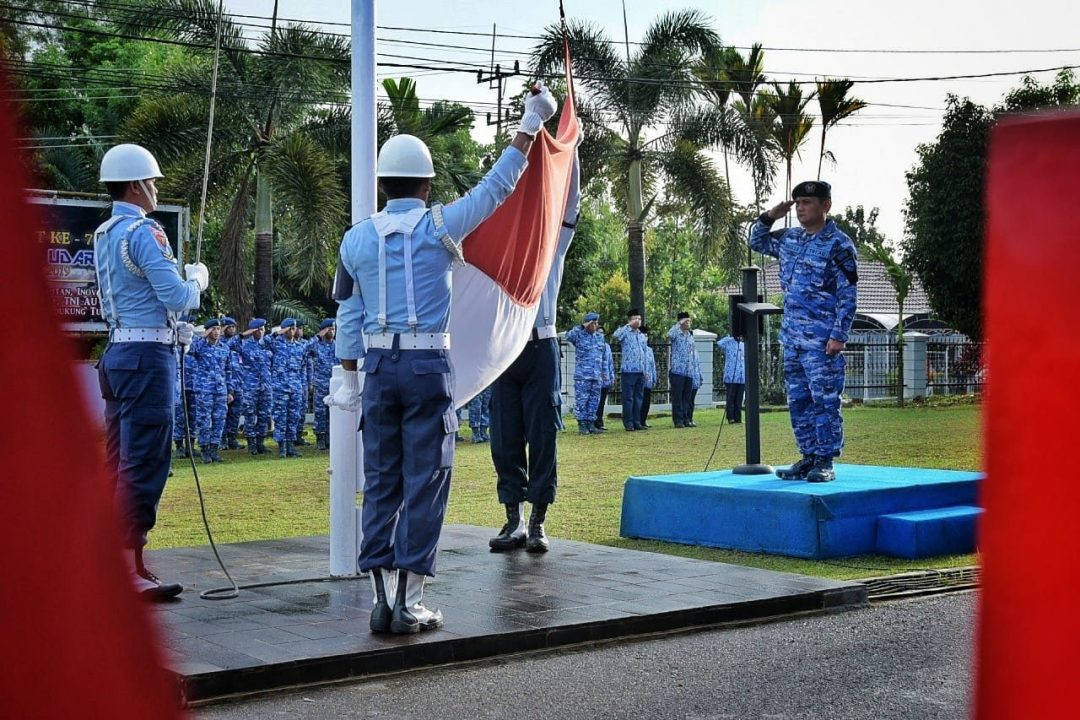 Peringati Hut Ke-68 Koopsau Lanud Rhf Melaksanakan Upacara