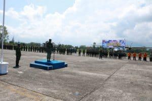 Pangkoopsau I Pimpin Apel Gelar Pasukan Latihan Kesiapsiagaan Operasional Koopsau I Di Lanud Sutan Sjahrir