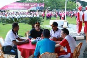 Danlanud Sutan Sjahrir Hadiri Olahraga Bersama Tni-polri Dalam Rangka Hut Bhayangkara Ke-73 Di Mapolda Sumbar