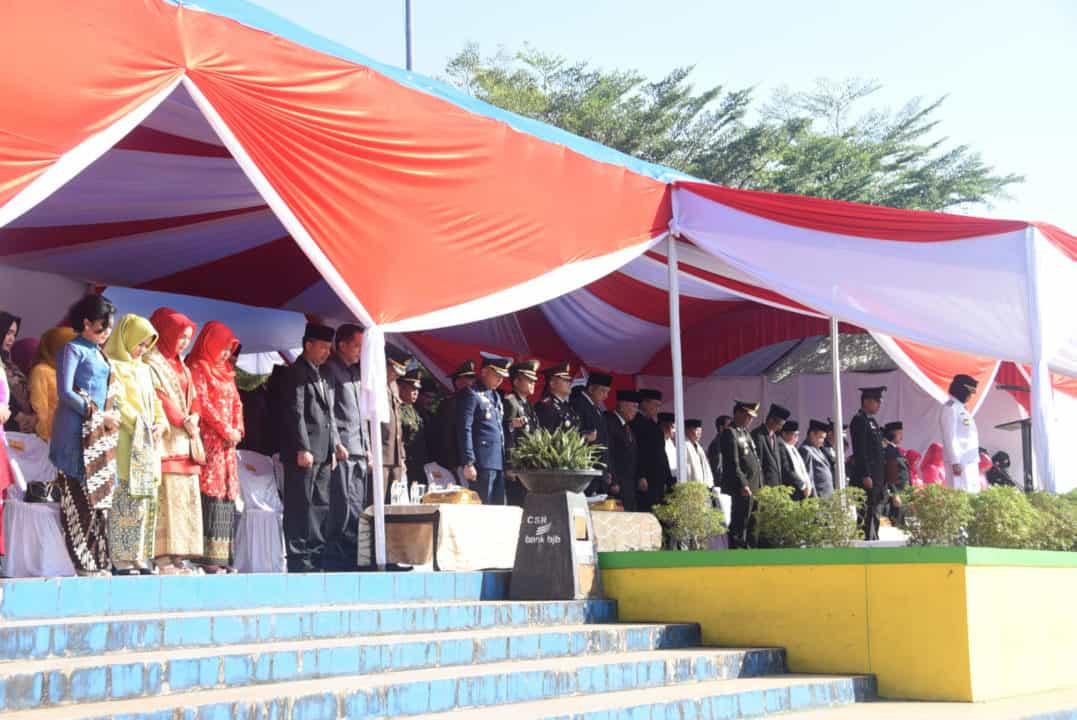 Danlanud Wiriadinata Beserta Ibu Menghadiri Upacara Dan Syukuran Hari Bhayangkara Ke – 73