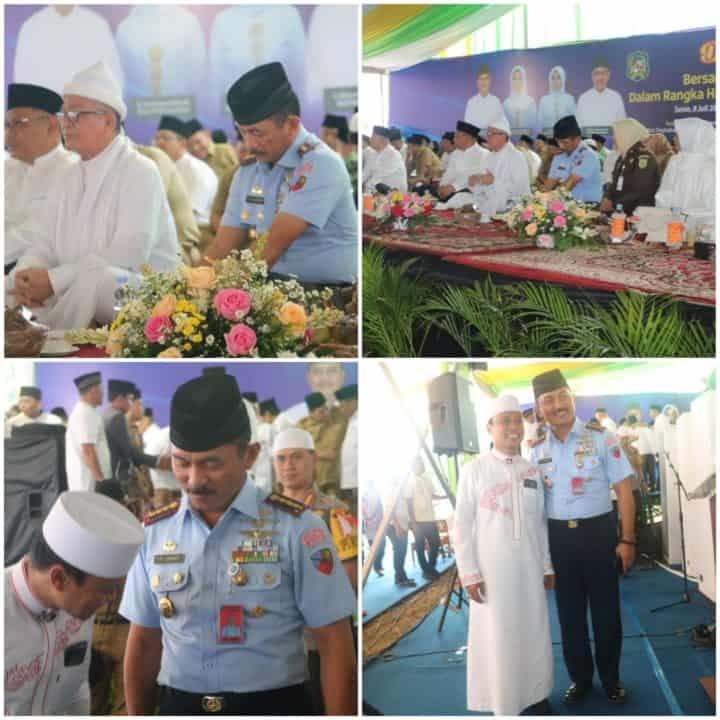 Danlanud Soewondo Hadiri Acara Dzikir Dan Doa Bersama Dalam Rangka Hari Jadi Ke-429 Kota Medan