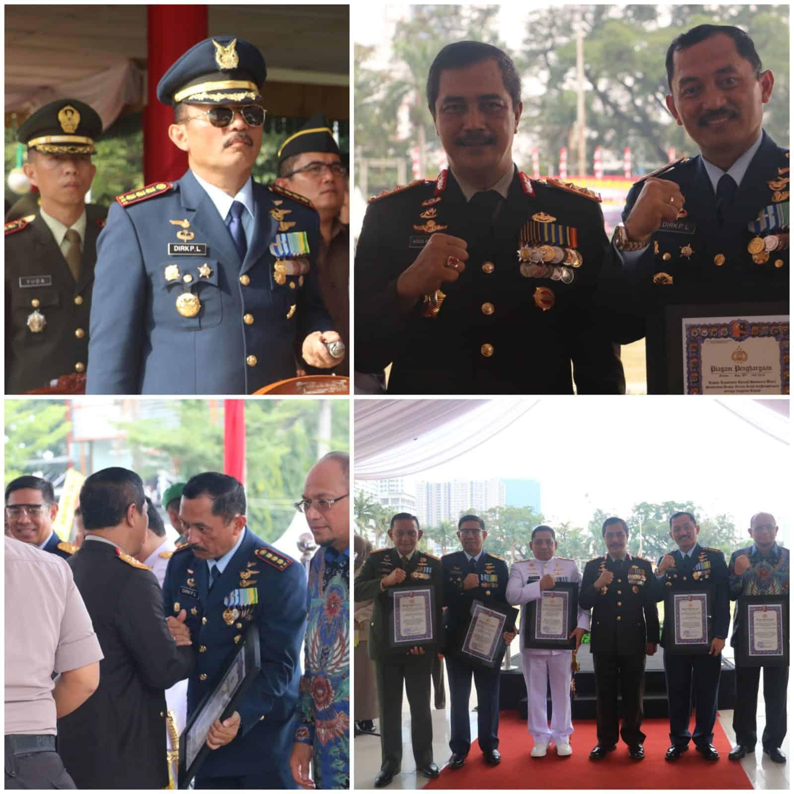 Danlanud Soewondo Hadiri Upacara Hut Ke-73 Bhayangkara Di Lapangan Merdeka Medan