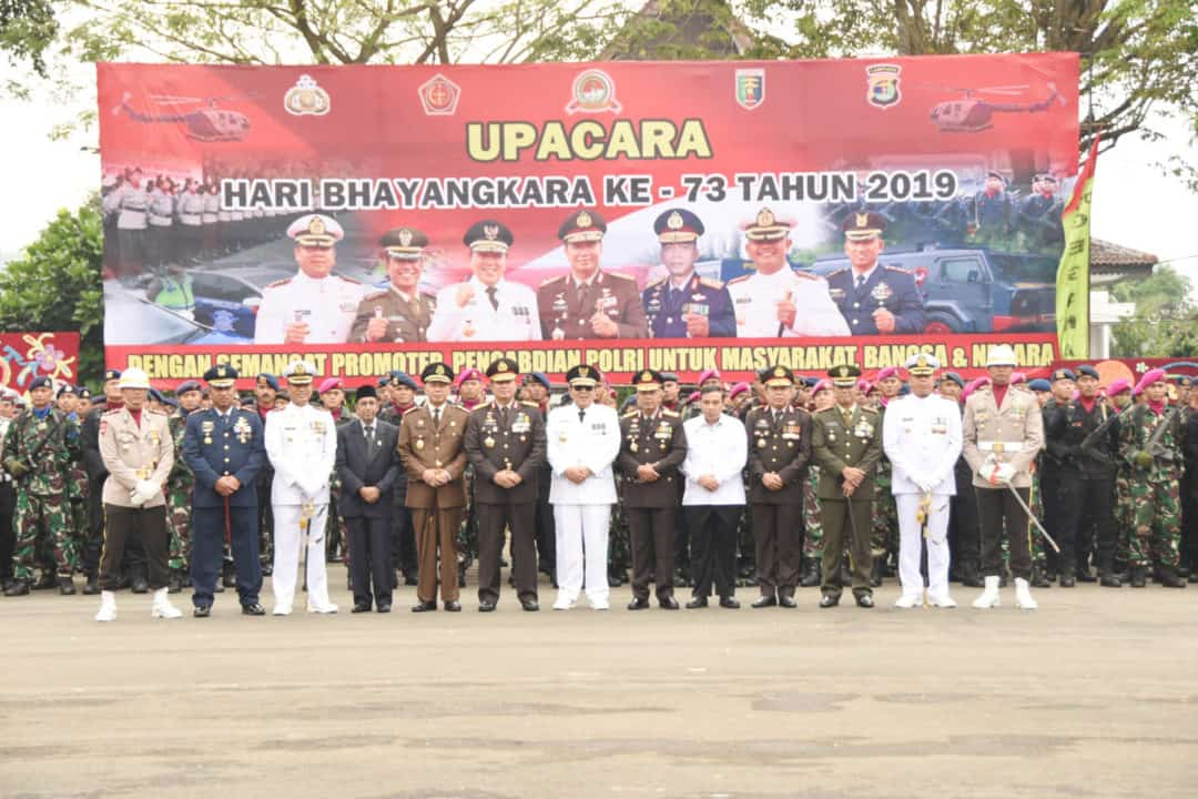 Upacara Hari Bhayangkara di Provinsi Lampung