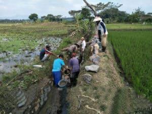 Lanud Wiriadinata Bekerjasama Dengan Dinas Pertanian Dan Perikanan Kota Tasikmalaya Bangun Irigasi