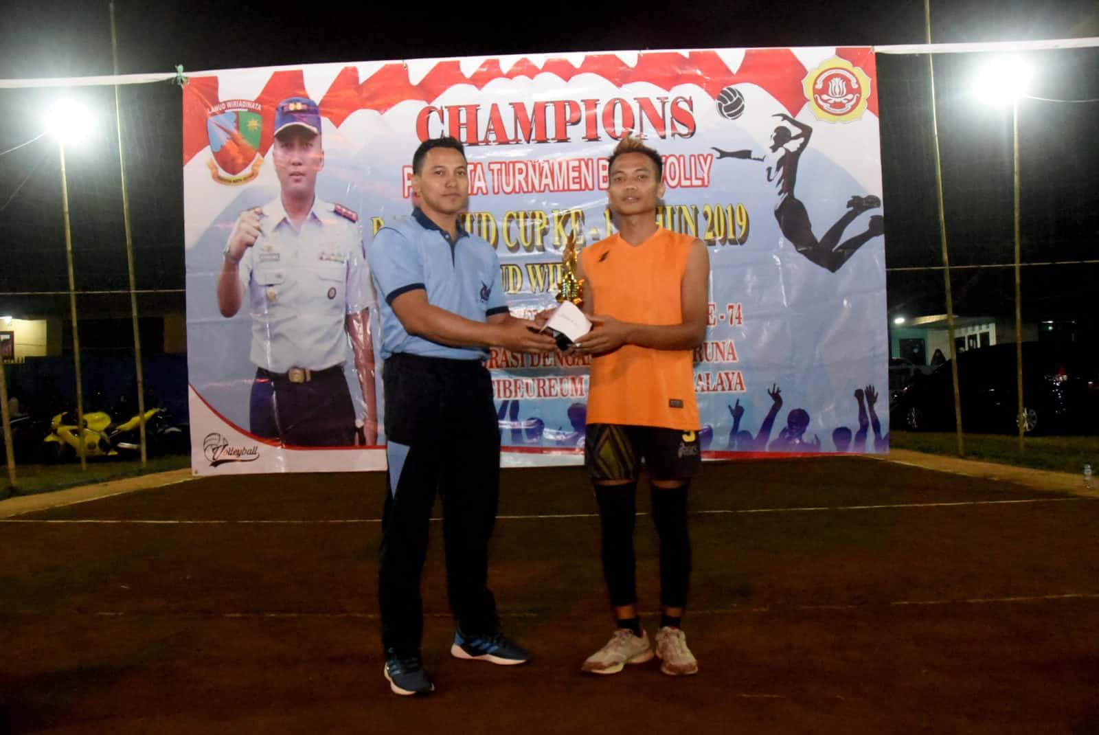 Tim Voli Condong Setianegara Juara Turnamen Bola Voli Danlanud Cup Ke – 1 Tahun 2019