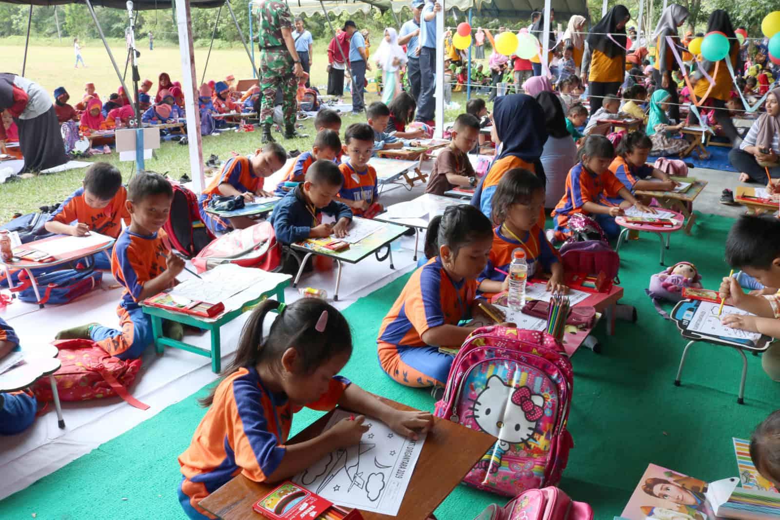 Lanud Iskandar Gelar Lomba Mewarnai Dalam Peringatan Hari Bhakti Tni Au Ke-72