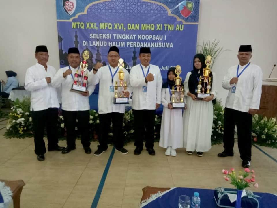 Lanud Wiriadinata Mempertahankan Juara Umum Lomba Musabaqoh Tingkat Koopsau I