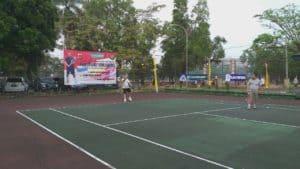 Dua Tim Ganda Putra Lanud Wiriadinata Mengikuti Turnamen Tenis Lapangan Kapolres Cup 2019 Eksekutif