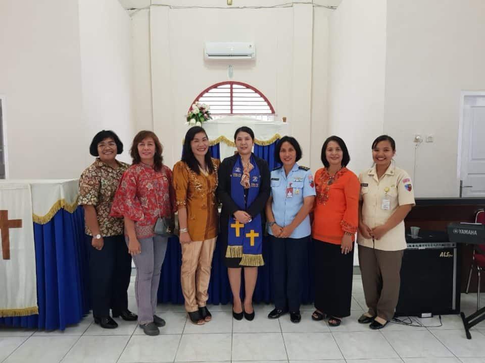 Danlanud Rsn Apresiasi Adakan Ibadah Persekutuan Wanita