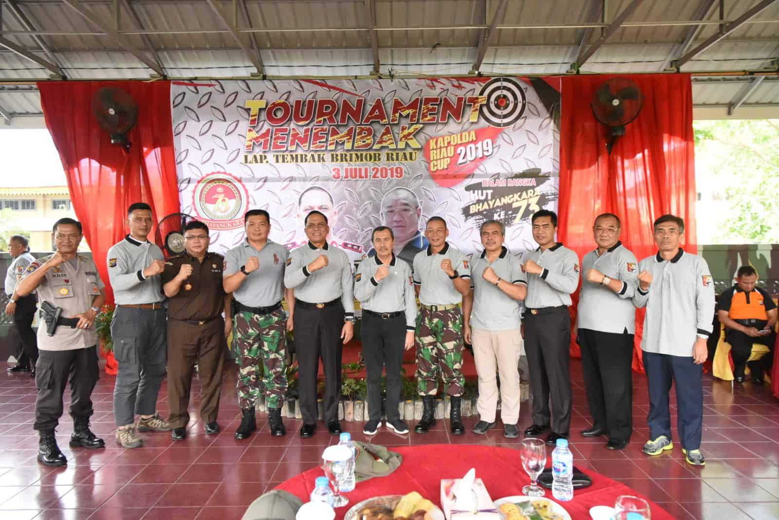 Danlanud Rsn Hadiri Tournament Menembak Hari Bhayangkara Ke-73