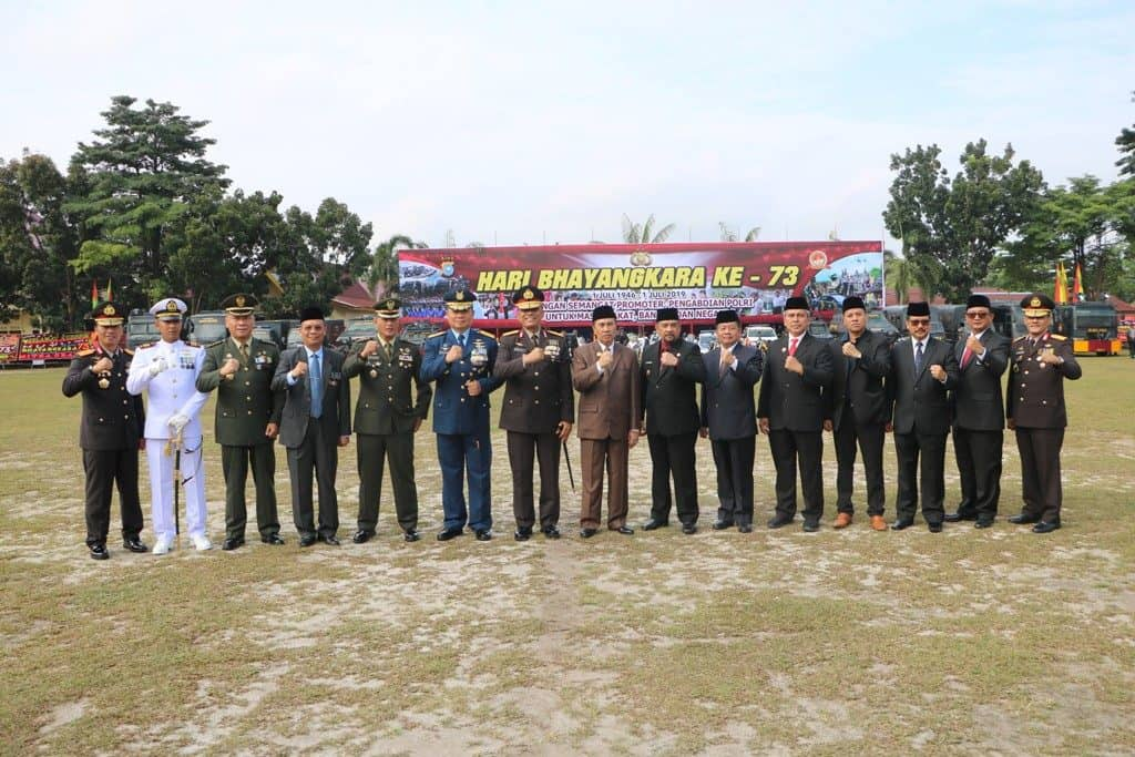 Danlanud Rsn Hadiri Upacara Hut Ke-73 Bhayangkara