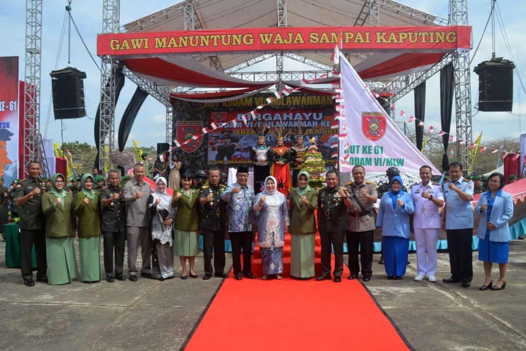 Komandan Lanud Sjamsudin Noor Hadiri Hut Ke-61 Kodam Vi/mulawarman Tahun 2019