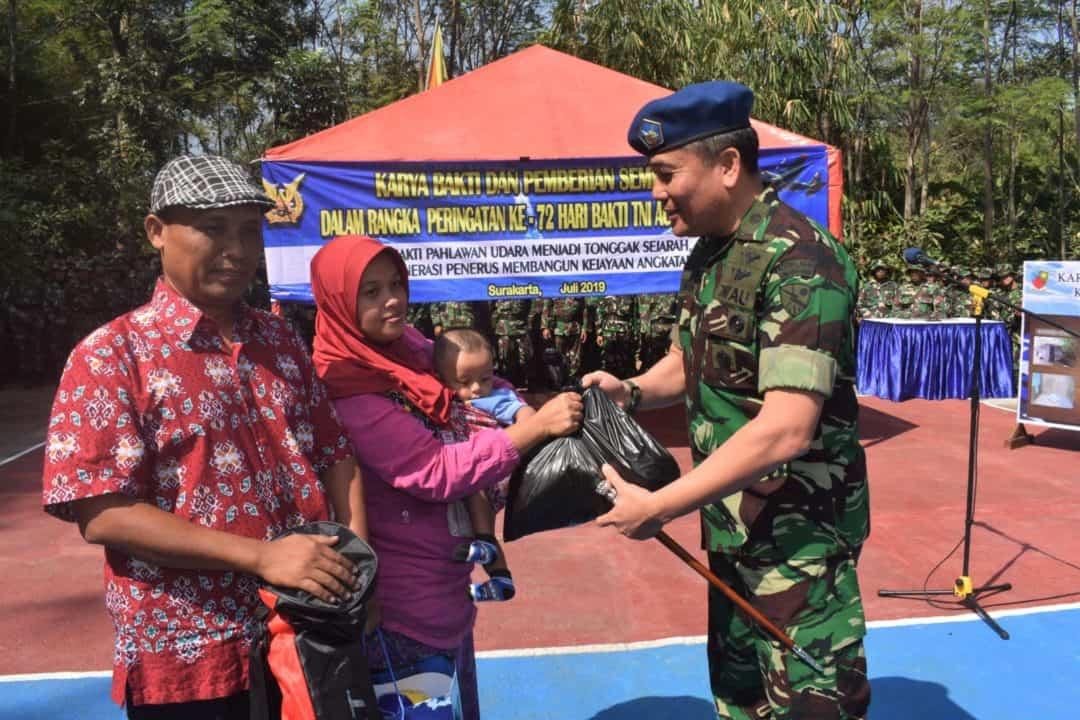 Peringati Hari Bakti Ke-72 Lanud Adi Soemarmo Dan Depohar 50 Karya Bakti Di Dusun Gulon Jebres