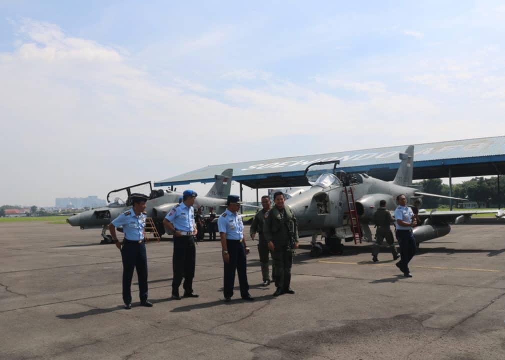 Danlanud Soewondo Sambut Kedangan 2 Pesawat Tempur Hawk 100/200