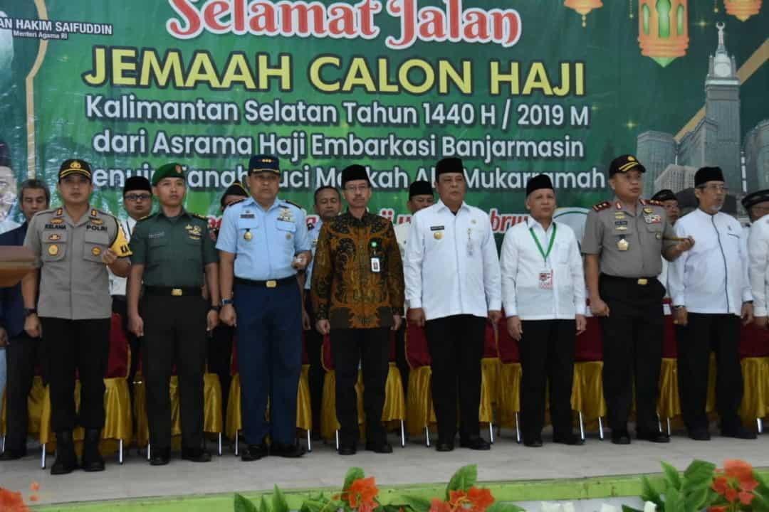 Pelepasan Jemaah Calon Haji Kloter I Asal Provinsi Kalimantan Selatan Menuju Tanah Suci