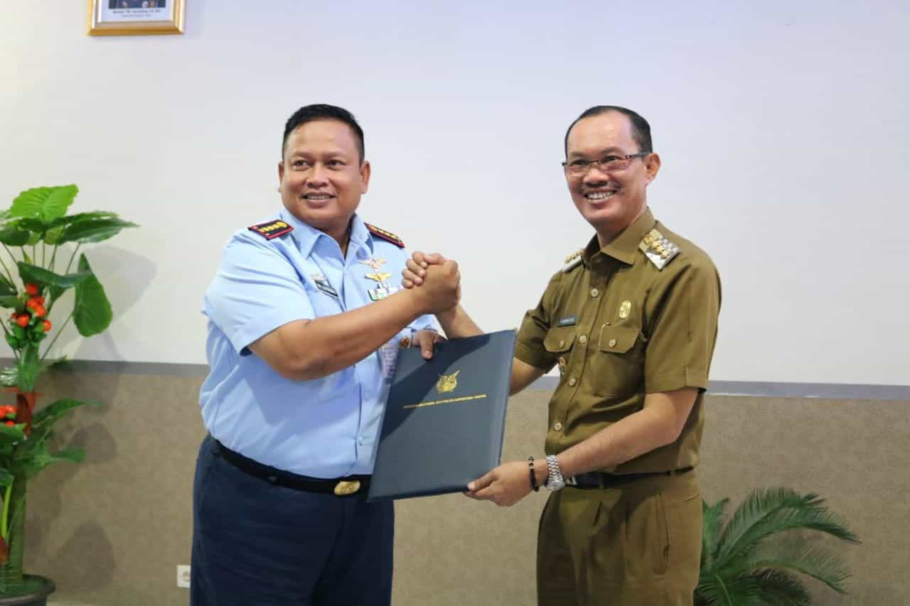 Walikota Palembang Tandatangani Kerjasama Dengan Tni Au