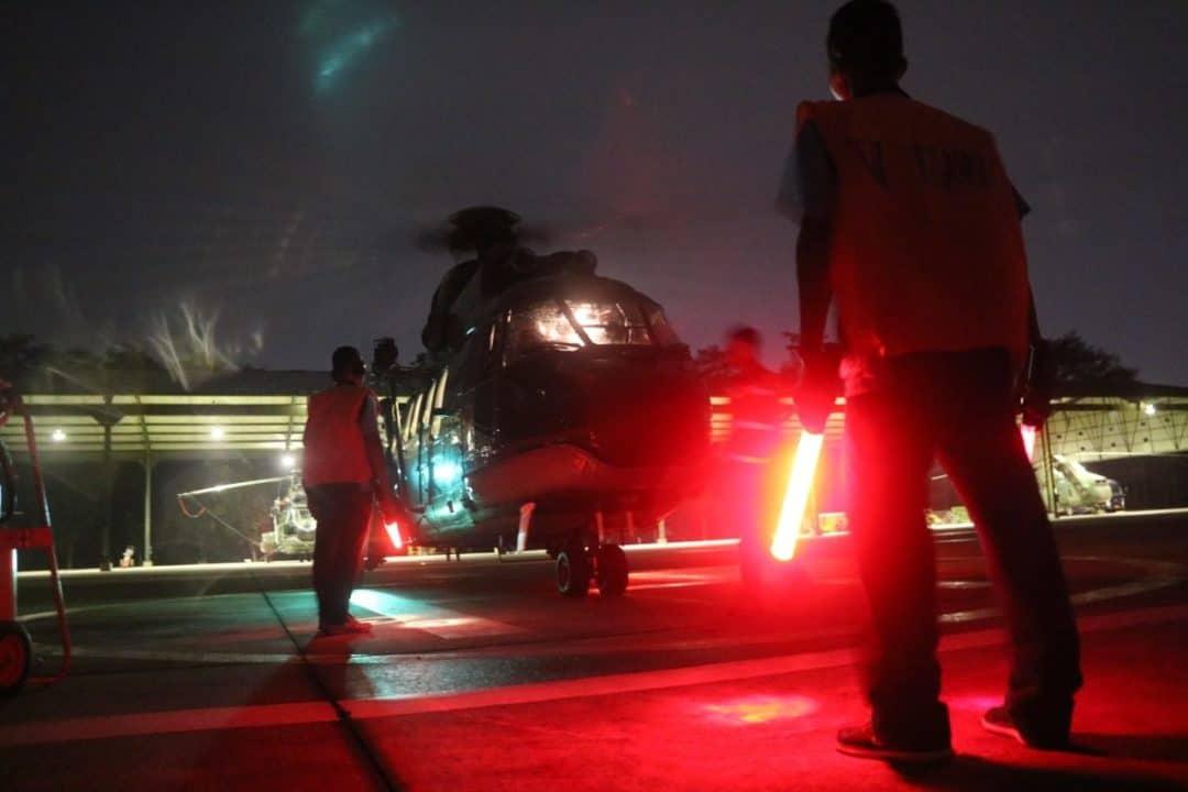 Skadron Udara 6 Lanud Atang Sendjaja Latihan Terbang Malam