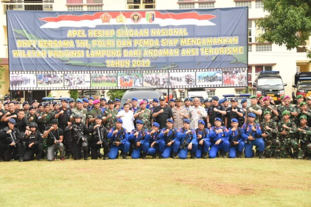 Apel Kesiapsiagaan Penanggulangan Teroris di Provinsi Lampung
