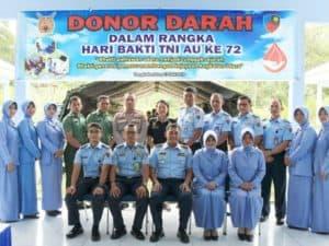 Donor Darah Dalam Rangka Peringatan Hari Bhakti Tni Au Ke-72