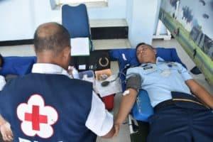 Lanud Sam Ratulangi Melaksanakan Donor Darah Dalam Rangkah Hari Bakti Ke-72 Tni Au