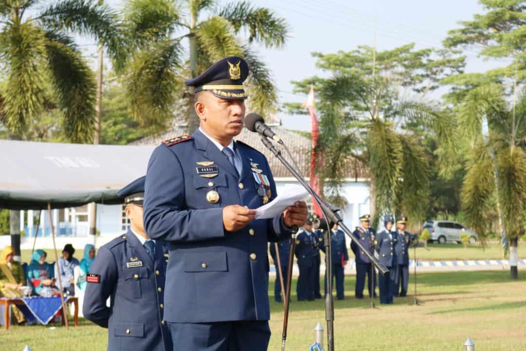 Upacara Memperingati Hari Bakti TNI AU ke-72 di Lanud Pangeran M. Bun Yamin.
