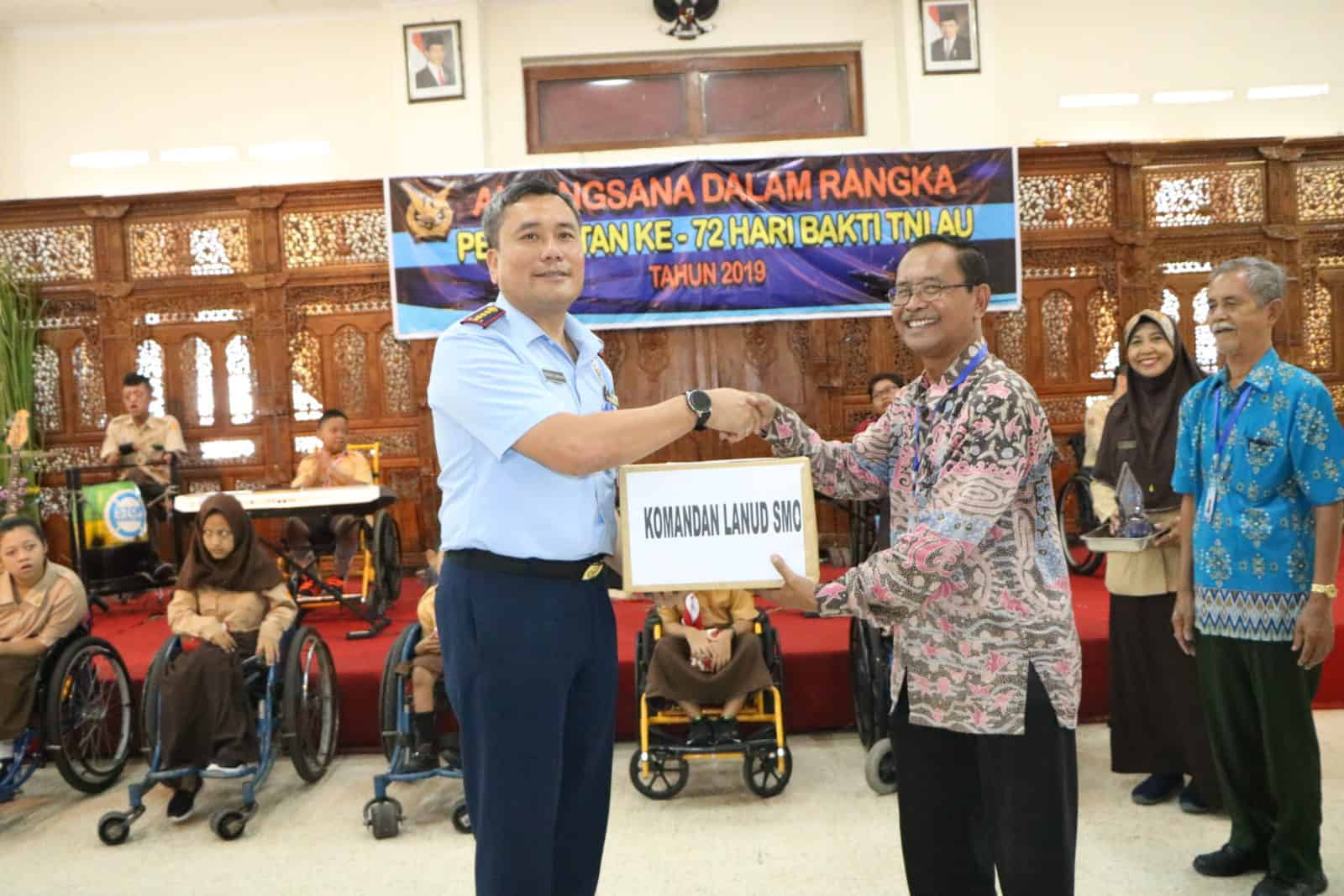 Peringati Ke 72 Hari Bakti Tni Au, Lanud Adi Soemarmo Anjangsana Ke Ypac Surakarta