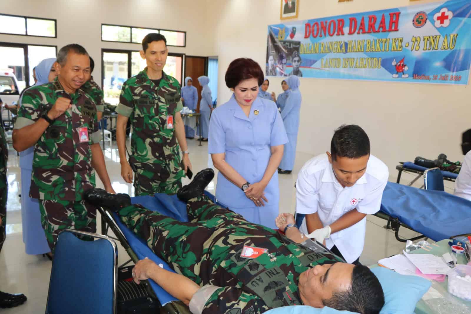 135 Kantong Darah Berhasil Di Kumpulkan Rsau Dr. Efram Harsana Lanud Iswahjudi