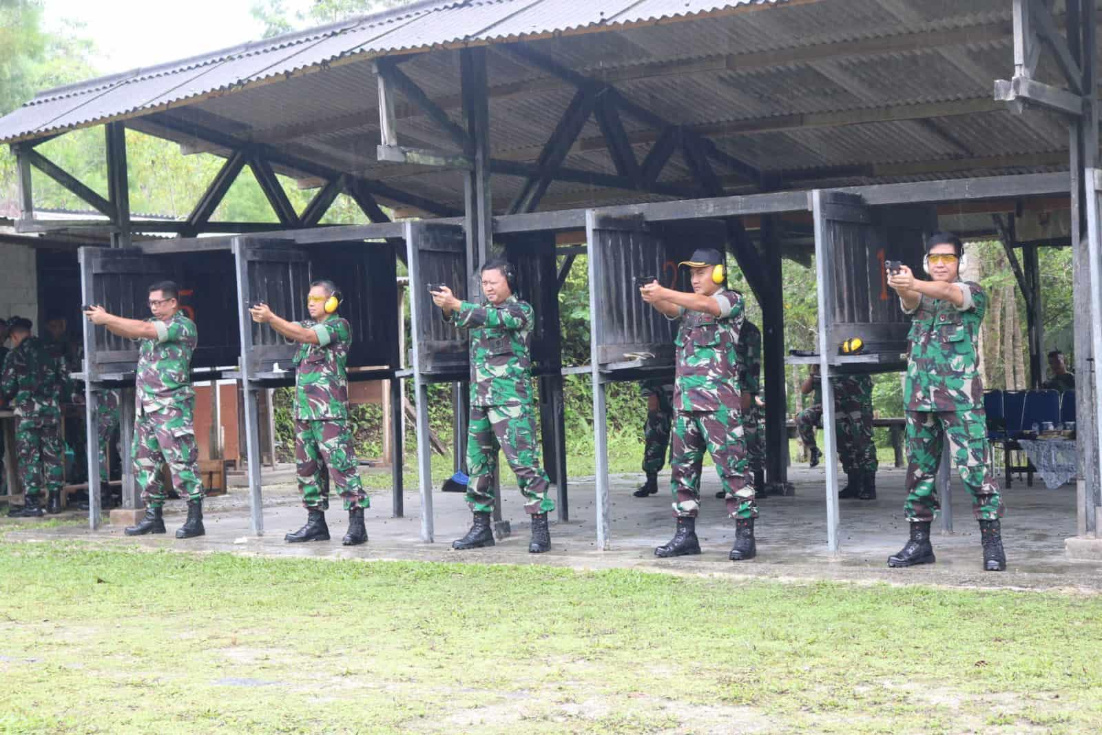 Tingkatkan Kemampuan Prajurit, Kosekhanudnas Iv Gelar Latihan Menembak