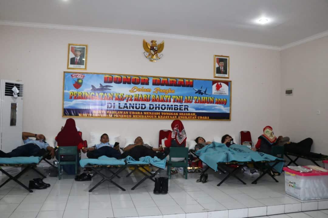 Donor Darah Hari Bhakti TNI AU Ke-72
