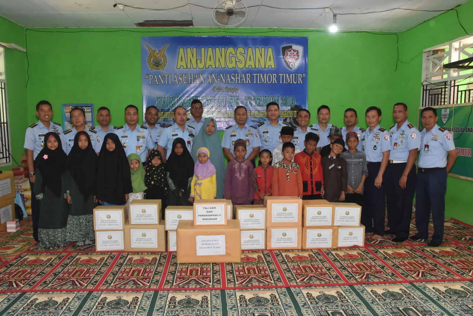 Dalam Rangka Peringatan Hari Bakti Tni Angkatan Udara Ke-72 Warga Koopsau Ii Anjangsana Ke Panti Asuhan An-nashar Timor Timur
