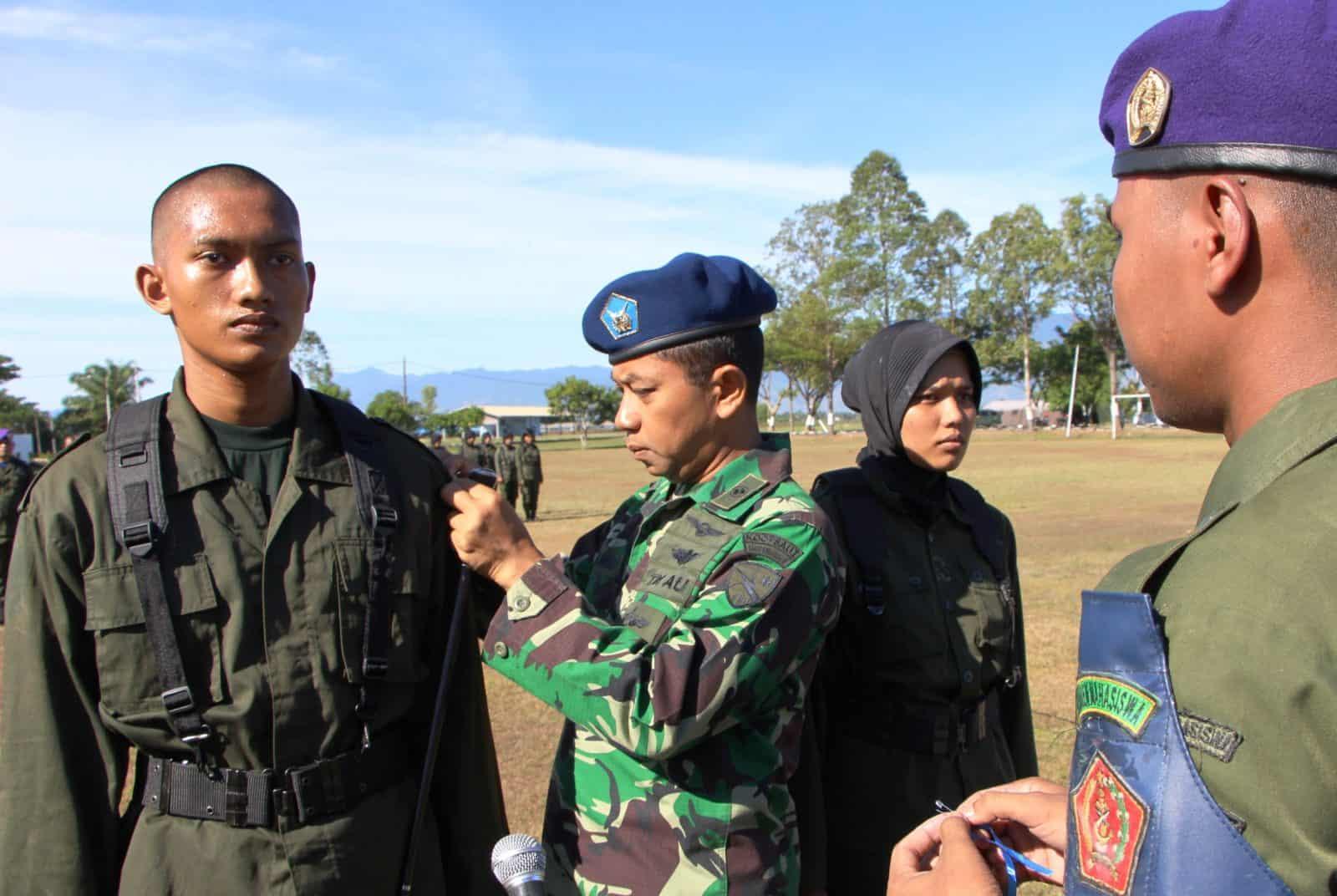 Danlanud Sim Buka Latsar Resimen Mahasiswa Mahadasa Aceh