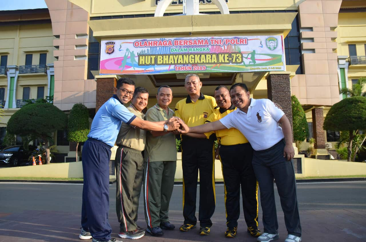 Danlanud Sim Olahraga Bersama Tni/polri Di Polda Aceh
