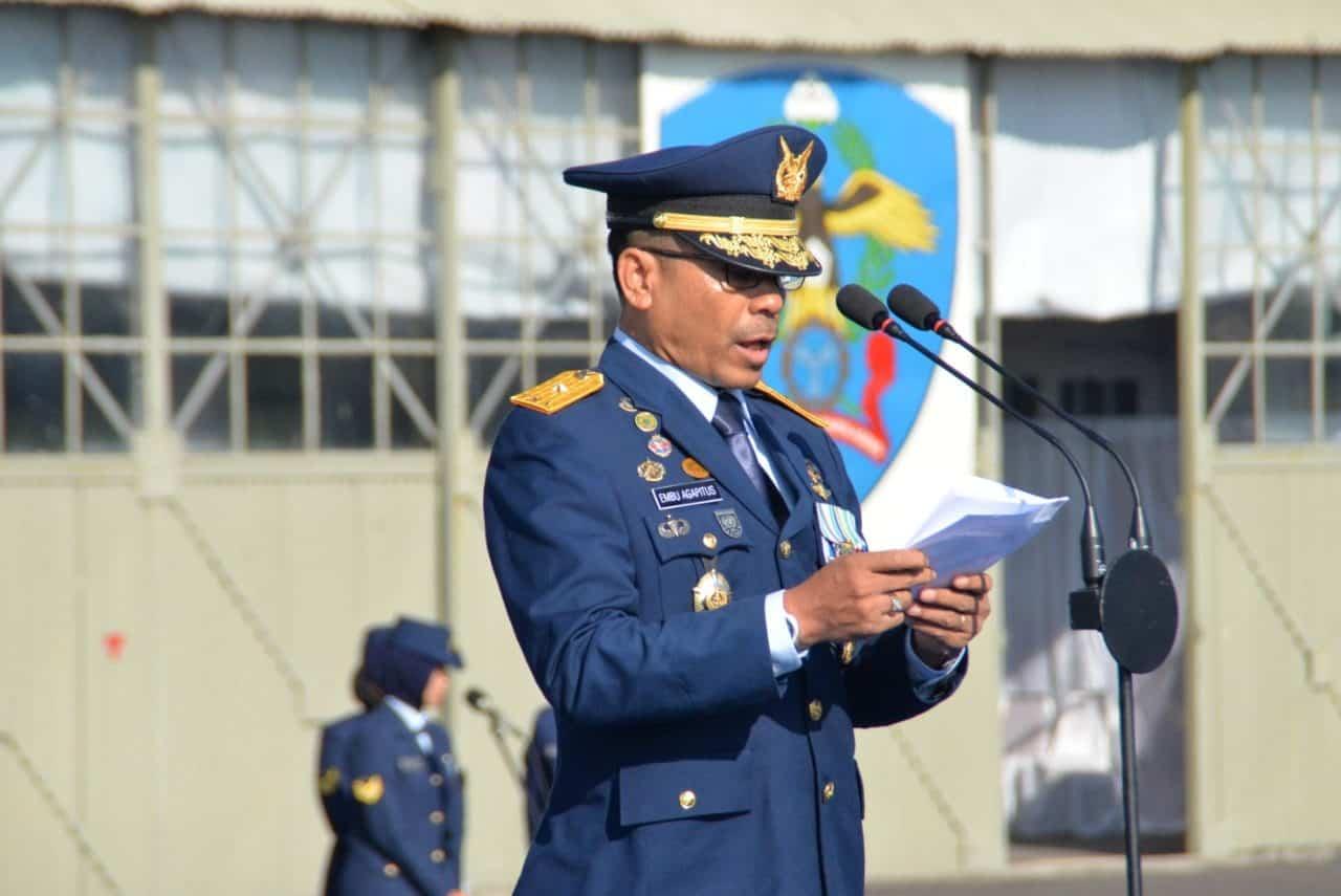 Upacara Peringatan Hari Bakti TNI Angkatan Udara yang ke-72 di Lanud Huseiin Sastranegara
