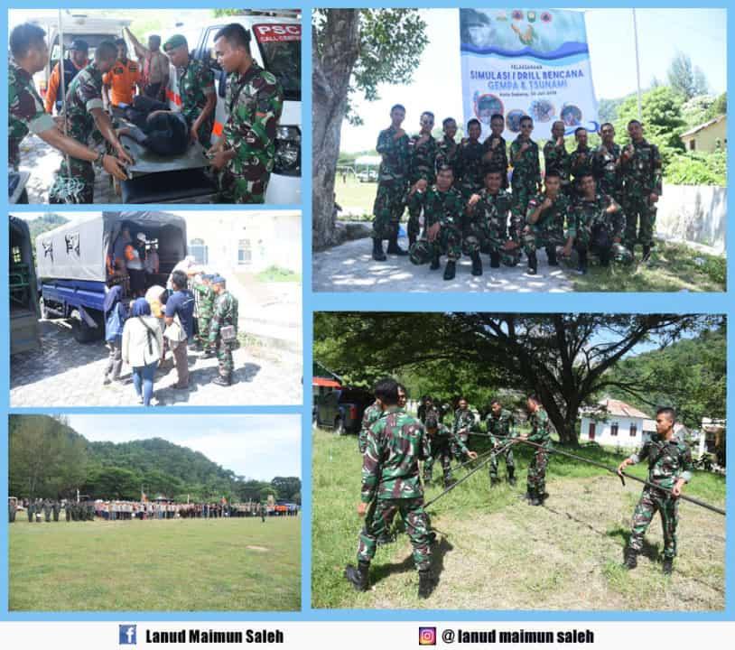 Lanud Maimun Saleh Dan Satrad 233 Latihan Simulasi Bencana Gempa Bumi Dan Tsunami