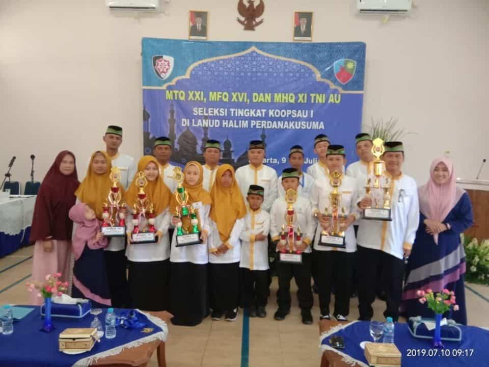 Tim Kafilah Mtq, Mhq Dan Mfq Kembali Harumkan Nama Lanud Rsn Dan Ukir Juara